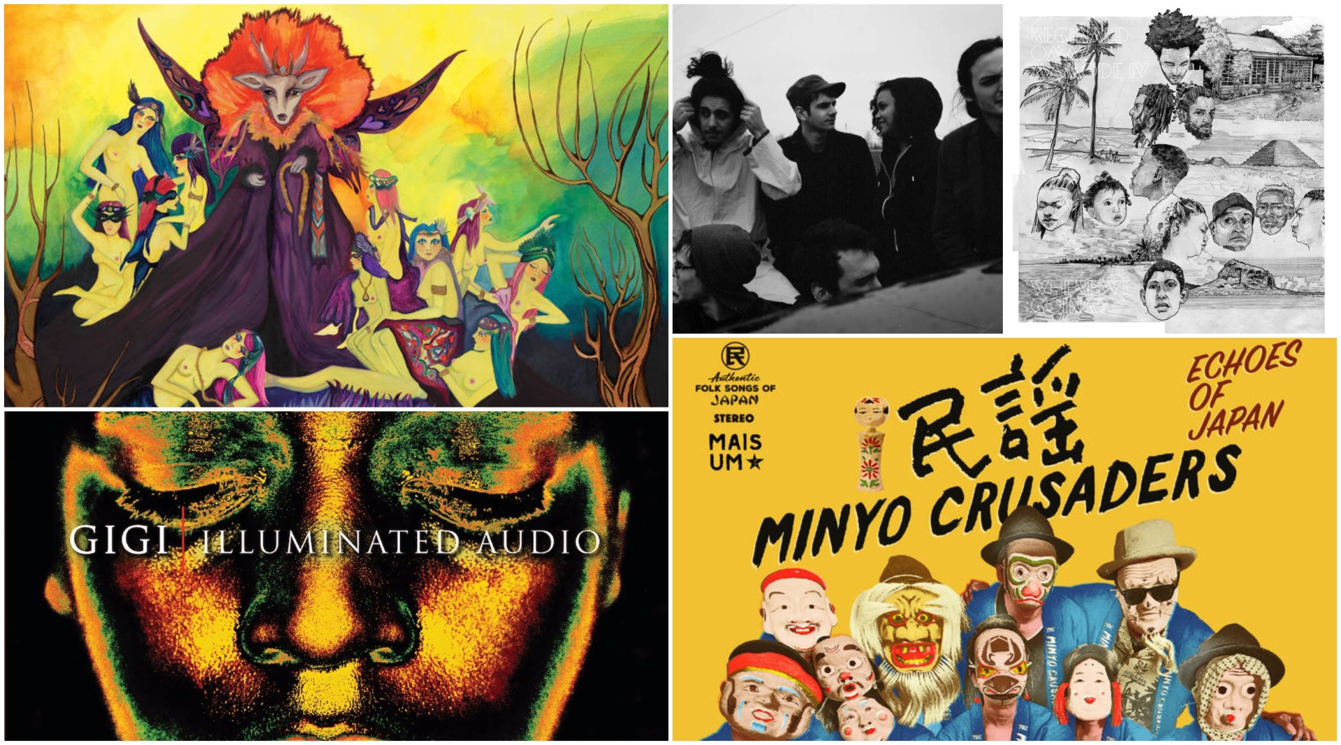 "New albums from Schemes, Reginald Omas Mamode IV, Gigi ""Illuminated Audio, Greg Foat, and Minyo Crusaders."