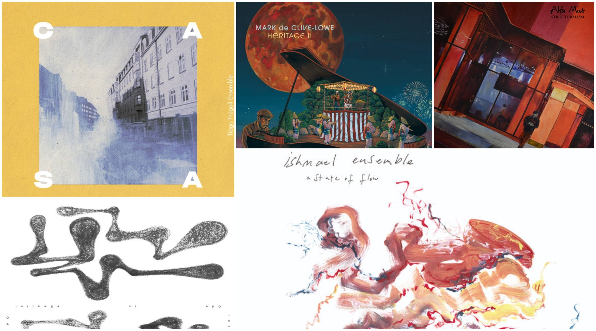 New albums from Tiago Frúgoli Ensemble, Sydney and more..
