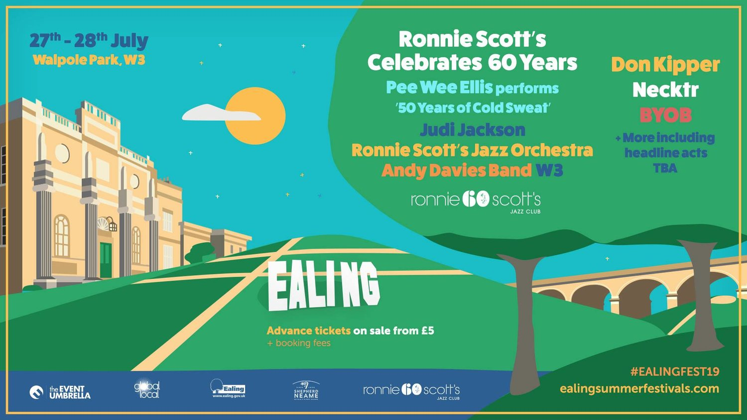 The Ealing Jazz Festival will come to Ealing's stunning Walpole Park.