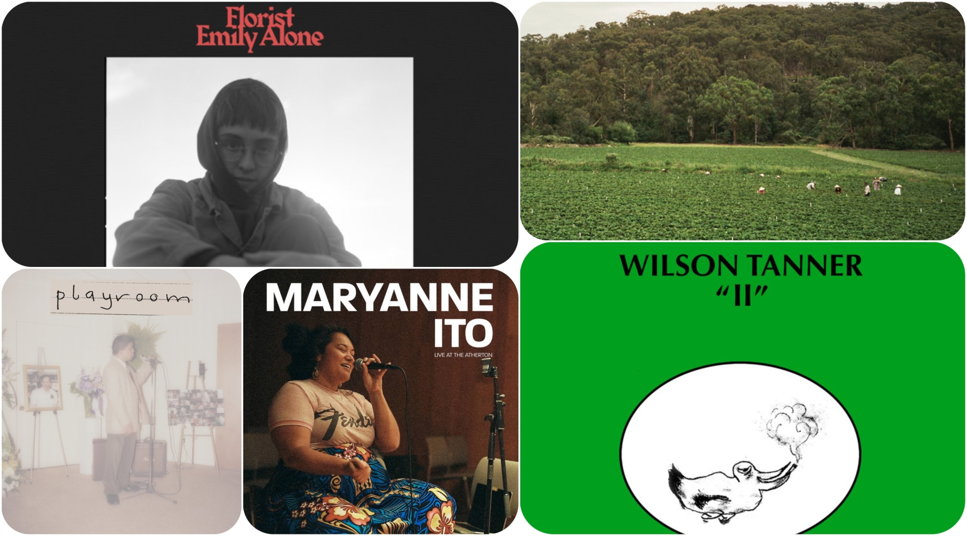 Stream music from Wilson Tanner, Albrecht La'Brooy, Florist, Maryanne Ito and Nathan Bajar.