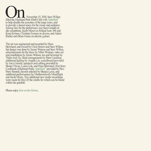 Sam Wilkes announces new live album, Live On The Green.